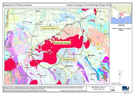 geology of strathbogie ranges