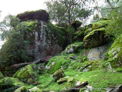 The boulder-heap from below.
