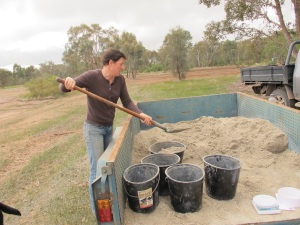 adding sand for ballast