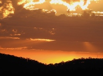 sunset from Barjarg Rd at Clog coupe