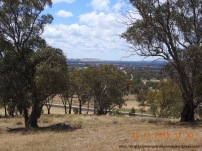 Looking north-east, the Hume Hwy stretches into the distance, with Creighton's Hill to the left..