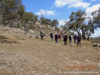Walking up the gently sloping north-south ridge
