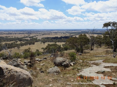 The Strathbogie Ranges really are on the edge of a vast inland plain.
