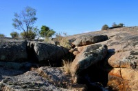 Iron stained granite