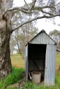 Miepoll Hall outhouse from less comfortable days