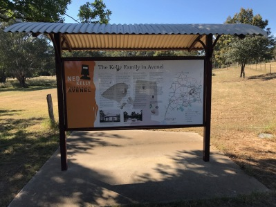 Ned Kelly Trail information sign