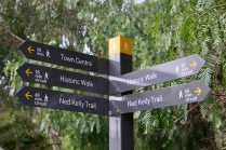 Example of trail directional signs