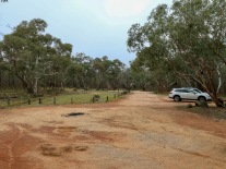 Car parking. There is clear signage on Wangandary Road to the Nature Trail. A couple of hundred metres downhill from the bitumen, there is plenty of room.