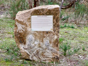 History, art and culture This carved stone tells the story of indigenous habitation of the region by Yorta Yorta people.